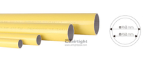 Yellow color aluminum pipe