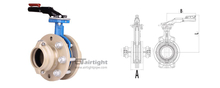 Fast-install handle butterfly valve